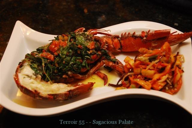 Stuffed Lobster & Squid Salad
