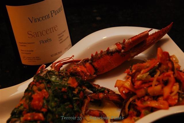 Pinard Flores '08, Stuffed Lobster & Squid Salad