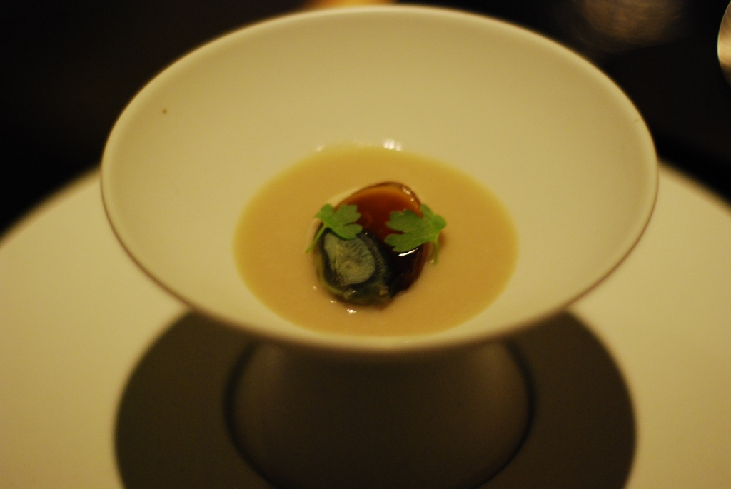 Thousand-year-old quail egg, cèpes, ginger