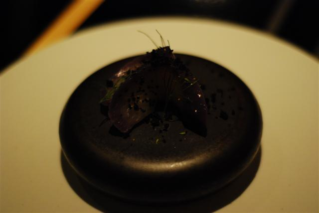 Eggplant with fennel ash