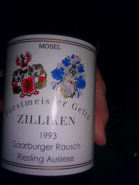 '93 Zilliken Riesling