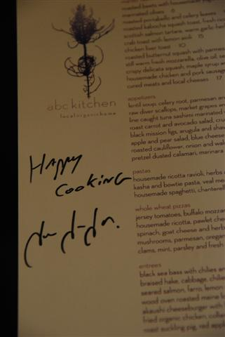 Jean-Georges' Signature from abc kitchen