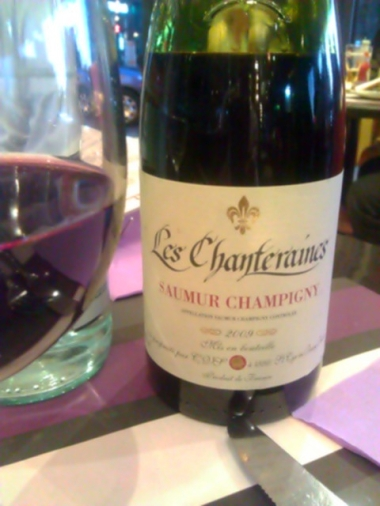 The Wine - '09 Les Chanteraines - Saumur Champigny
