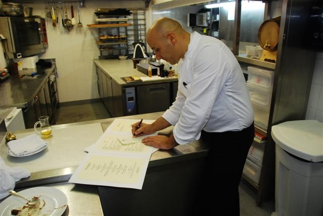 Chef Laurent Paccini - Creating a masterpiece, our menu
