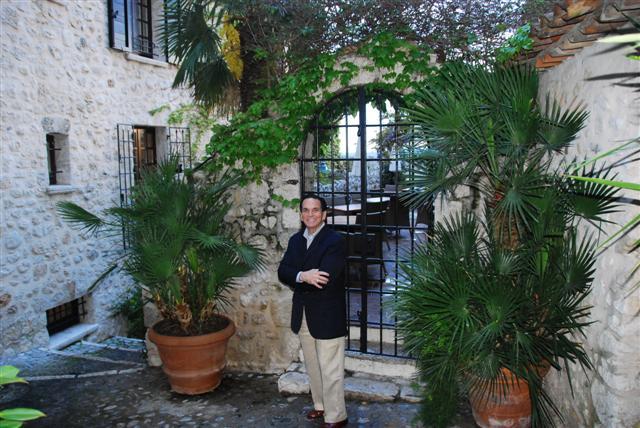 Tony near the courtyard