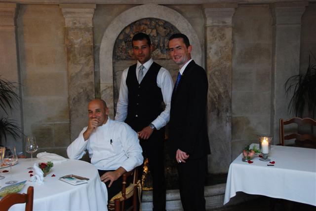 Chef Laurent Paccini, Walid (chef de rang) & Frédéric BERNARD (maitre d'hotel)