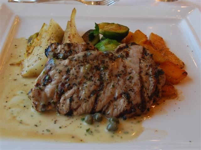 Veal Scallopini with a caper butter sauce