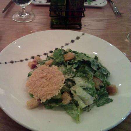 Classic Caesar Salad with Garlic Croutons, Crisp Parmesan