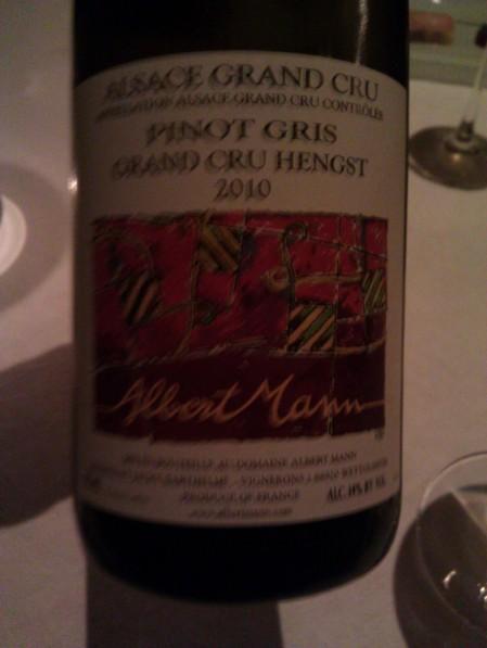 Albert Mann - '10 Pinot Gris, Grand Cru Hengst