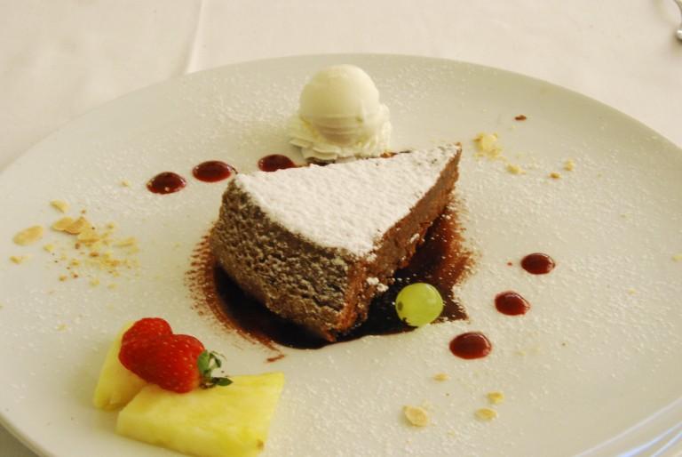 Capri almond chocolate cake