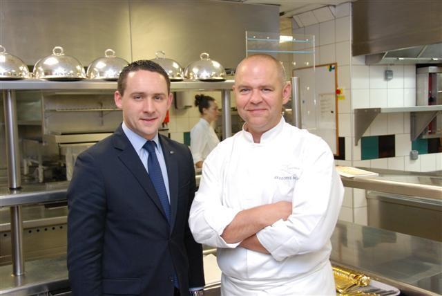 Mr. Antoine Pétrus and Chef Christophe Moret
