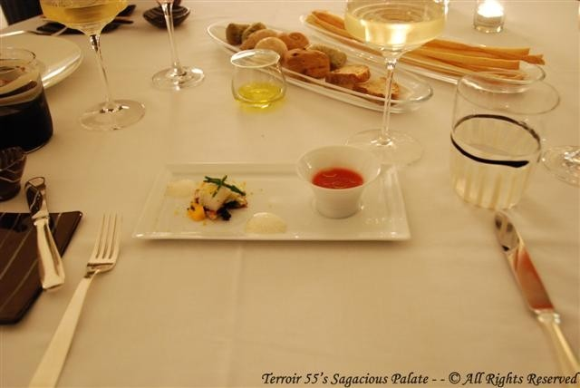 Amuse Bouche - Seafood and soup