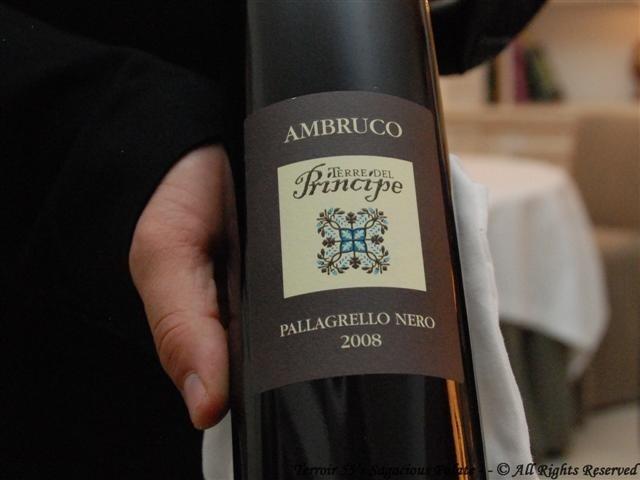 """2008 Ambruco """"Terre Del Principe"""" Pallagrello Nero"""