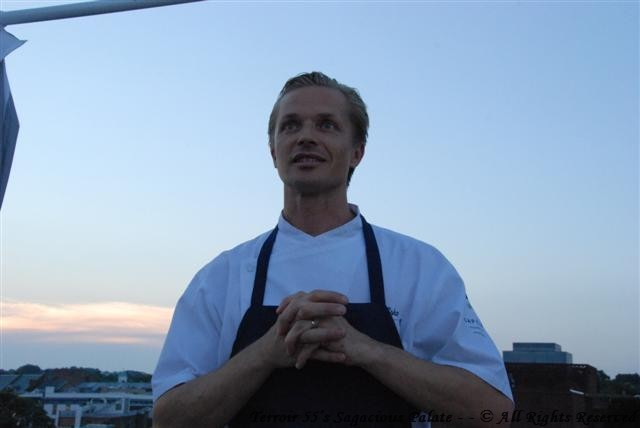 Chef Esko welcoming us to the roof
