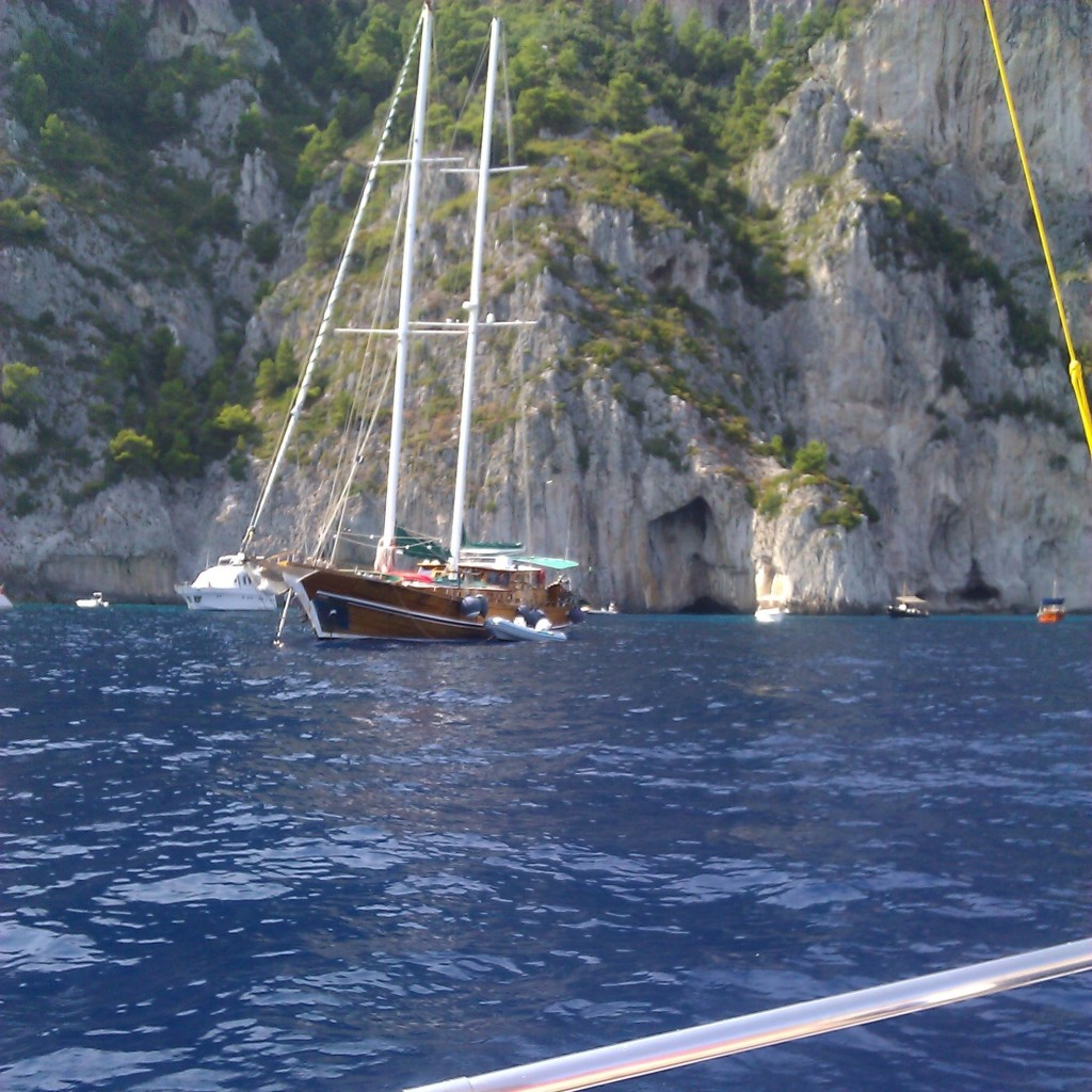 After lunch tour of Capri