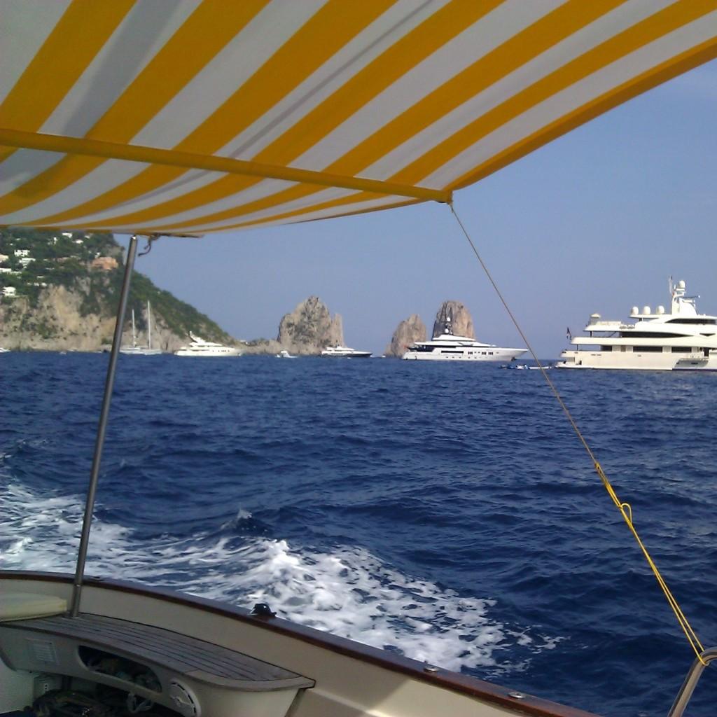 After lunch cruising - Capri