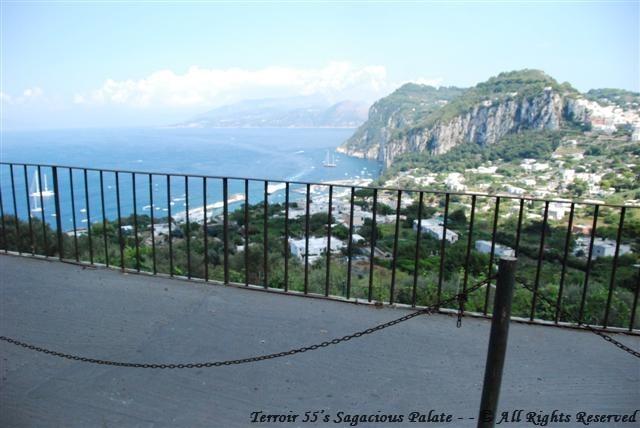 Leaving Capri for Anacapri - view of the Bay of Capri