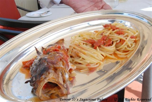 Catch of the day with pasta