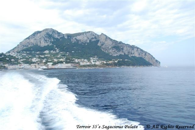 Leaving Capri for Amalfi