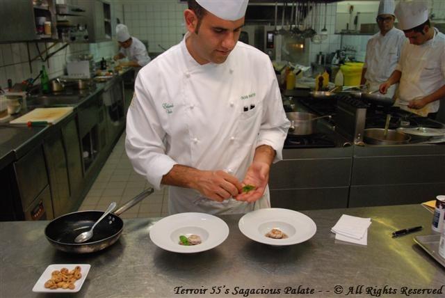 Chef Eduardo plating