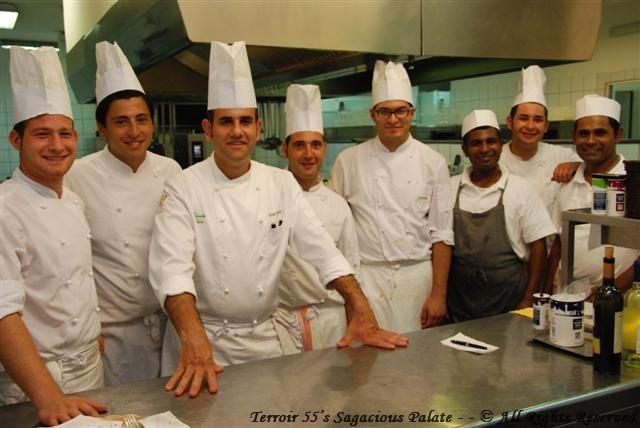 Ernesto, Vincenzo,Chef Eduardo, Ernest0, Mario,Peppino, (La Cucina staff--Nissan & Nelsen)
