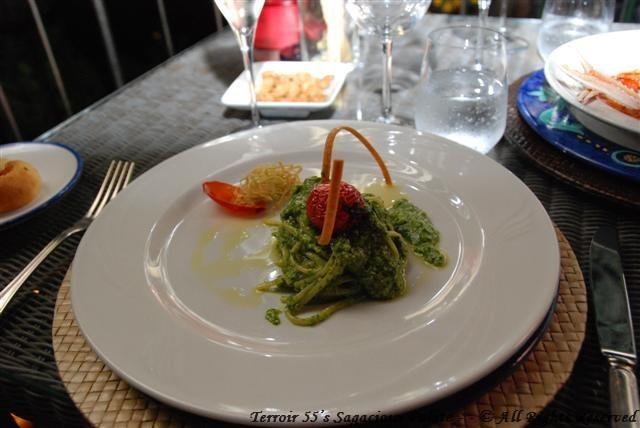 Pesto Pasta with lemon and tomatoes