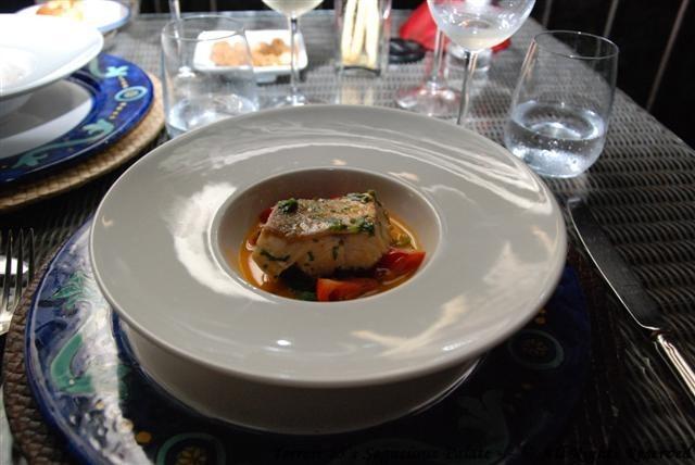 Filet of sea bass with Swiss chard