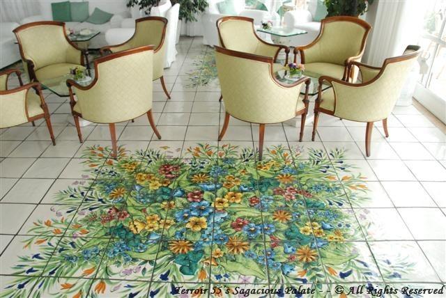Santa Caterina - the tiled lobby floor.