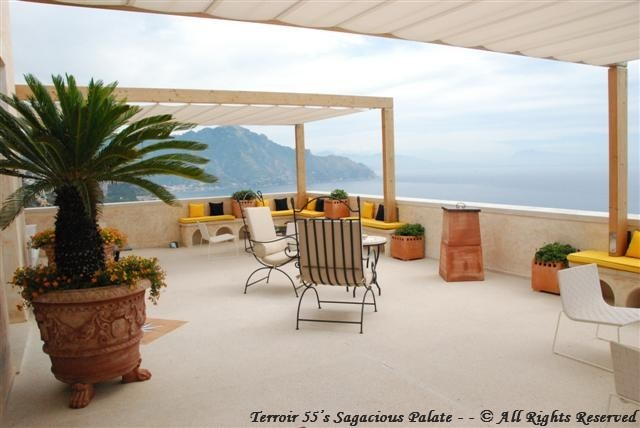 """The Terrace"" facing the port of Amalfi"