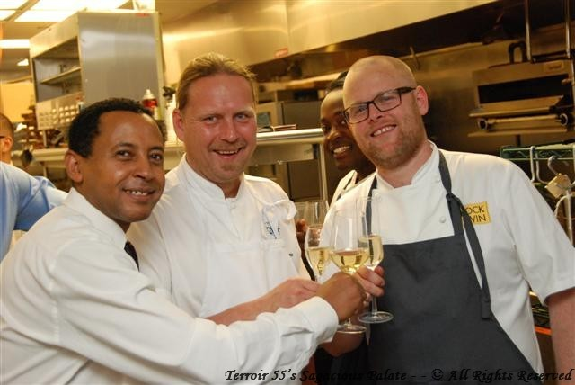 Lou with Chef Hans Boren and Chef Björn Persson