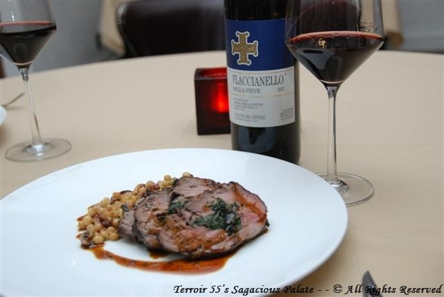 Rotisserie Lamb Plated with Wine