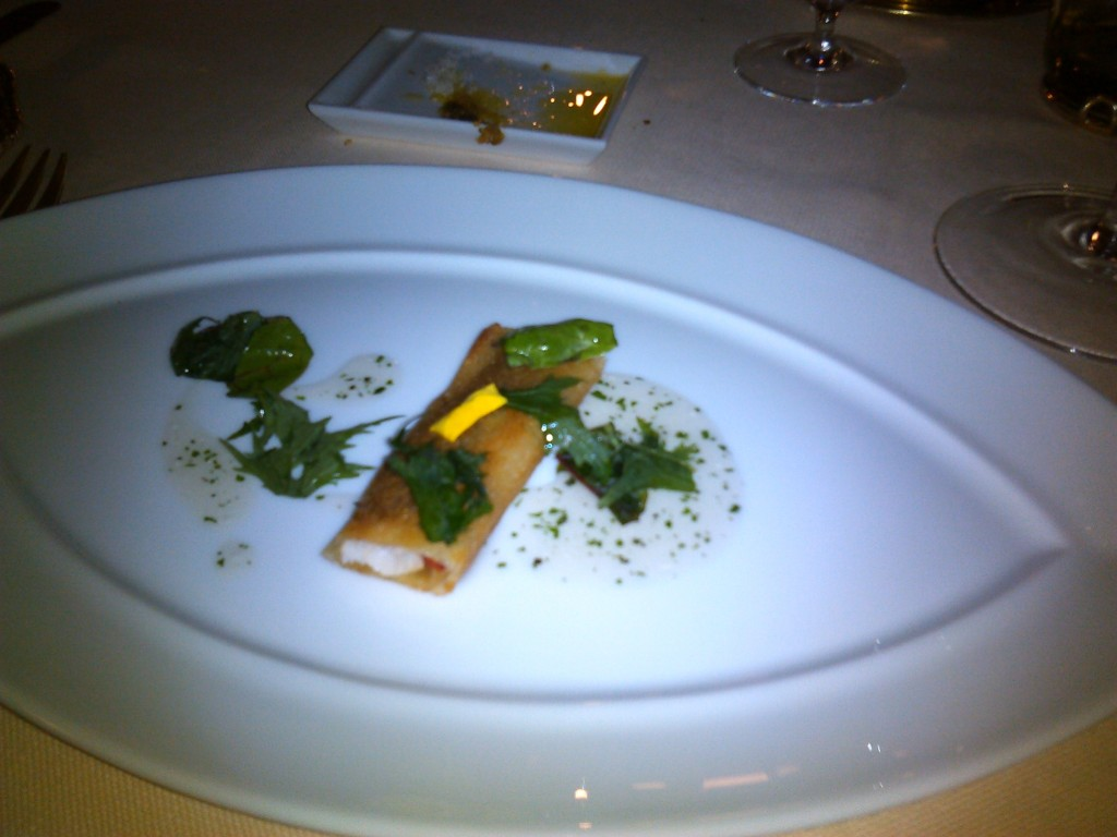 Crispy red mullet with herbs
