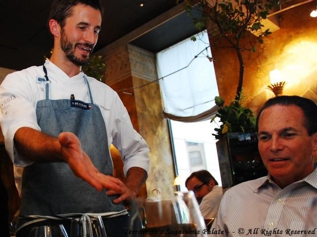 "Chef Marchino presenting ""The Stromboli"" and Tony's priceless expression."