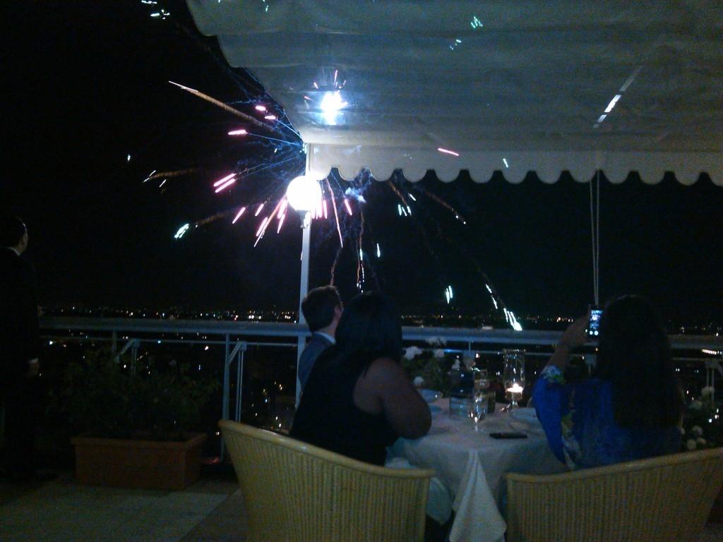 After Dinner Fireworks - Rome Cavalieri