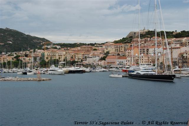 Arriving in Calvi, Corsica