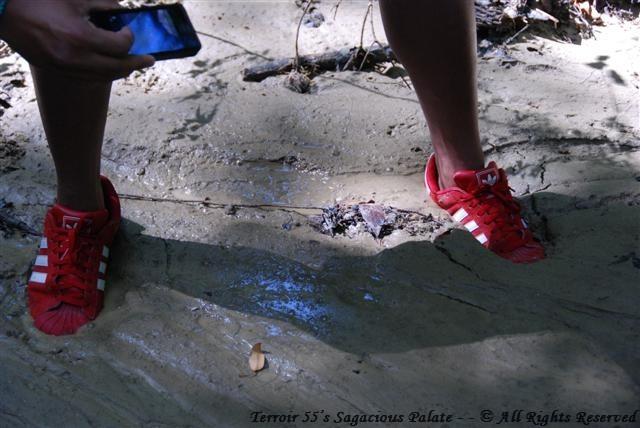 Jason stuck in mud...