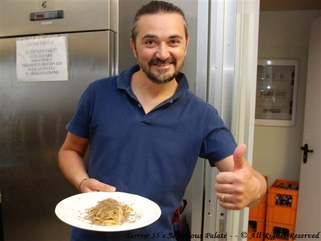 Luca with my plate