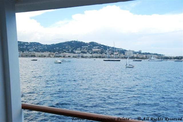 Entering Cannes - View from the balcony