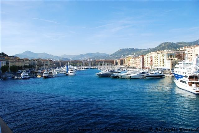 Arriving in the port of Nice