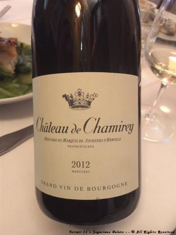 2012 Chateau de Chamirey - Mercurey