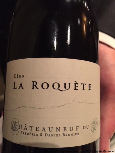 """2010 """"La Roquète"""" Frédéric and Daniel Brunier – Châteauneuf-du-Pape"""