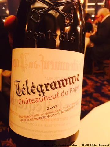 2012 Chateau-Du-Pape - Telegramme