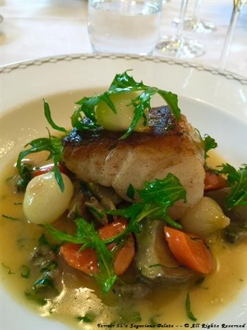 Poisson with spring vegetables