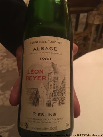 """1988 Léon Beyer """"Reisling VT"""" (Alsace)"""