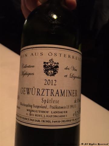 """Weingut Landauer """"Gewürztraminer"""" Spätlese 2012"""