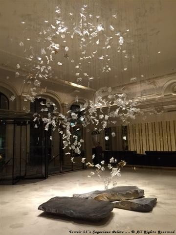 """Peninsula's Lobby - """"Dancing Leaves"""" - Designed by Luděk Hroch, created by Lasvit (Glass Couture)"""