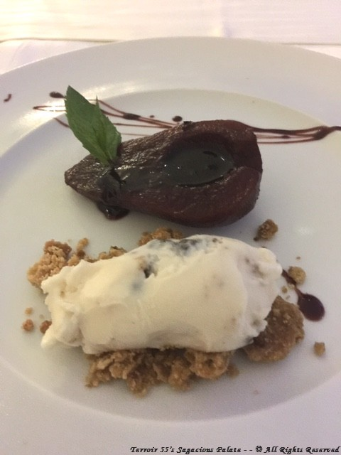 Poached pear and deconstructed cannoli