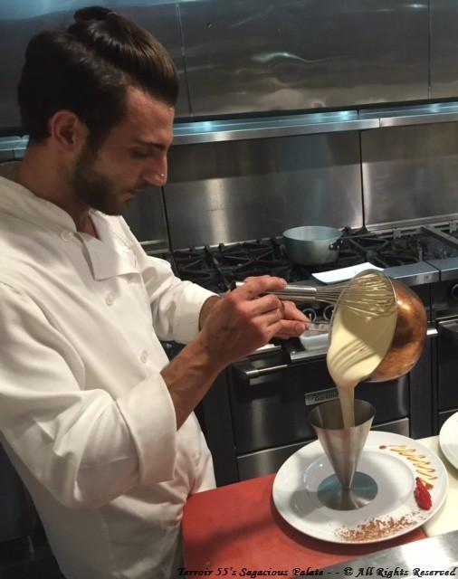 Eugenio preparing sabayon