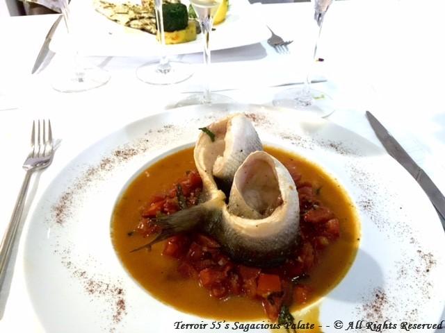 Branzino A L'Aqua Pazza - Branzino filet, steamed in a fresh diced tomato broth