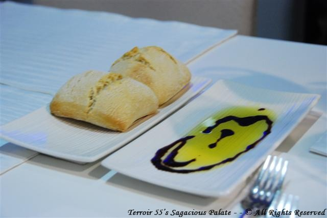 Hot Fresh Bread with Balsamic vinegar and Olive Oil
